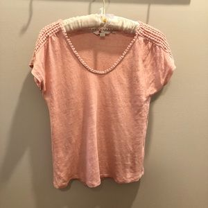 Boden Size Small Linen pink Top